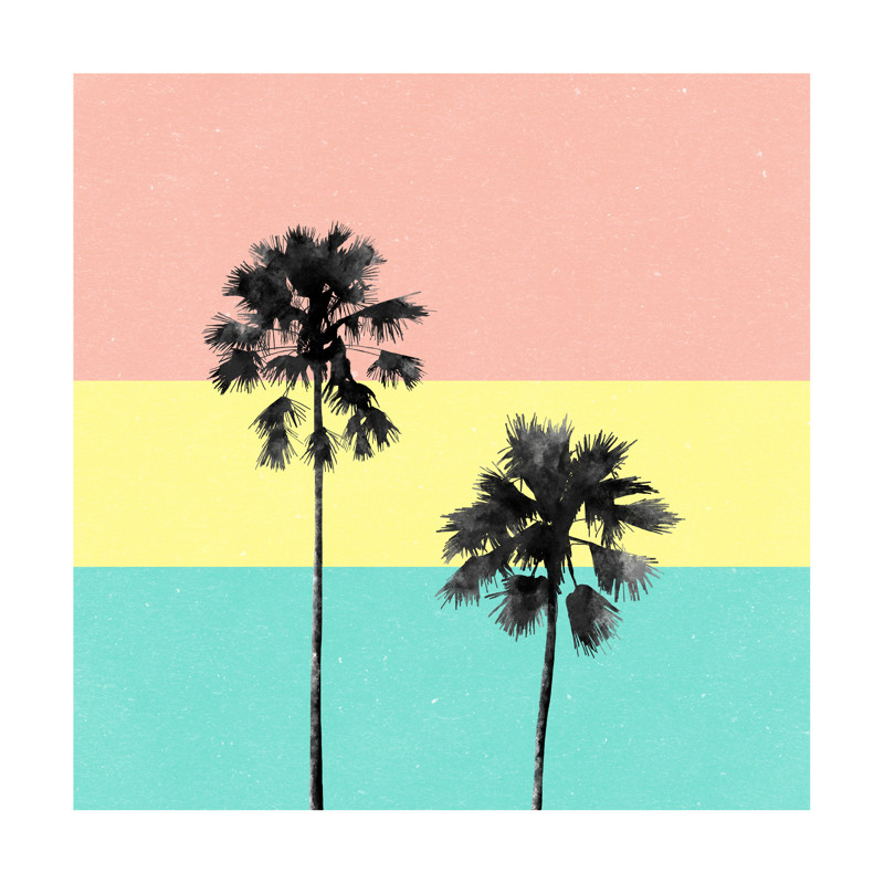 Palm Tree Silhouette Wall Art Prints by Cass Loh | Minted