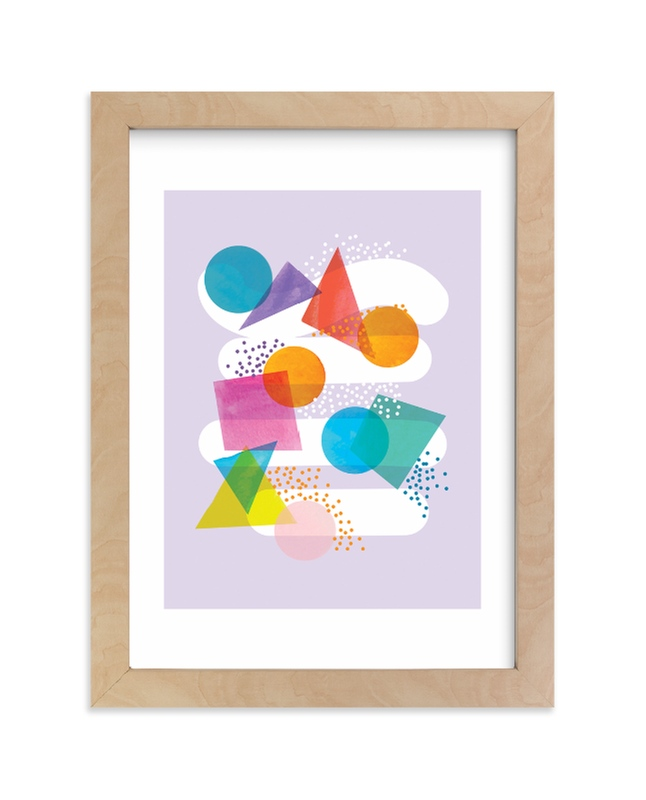 """""""colorful shapes"""" - Limited Edition Art Print by Baumbirdy in beautiful frame options and a variety of sizes."""