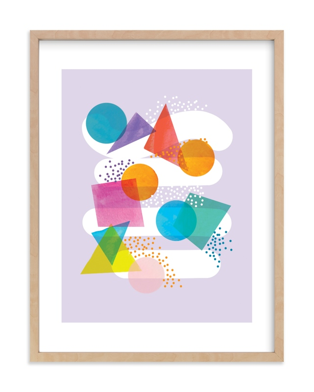 """colorful shapes"" - Limited Edition Art Print by Baumbirdy in beautiful frame options and a variety of sizes."
