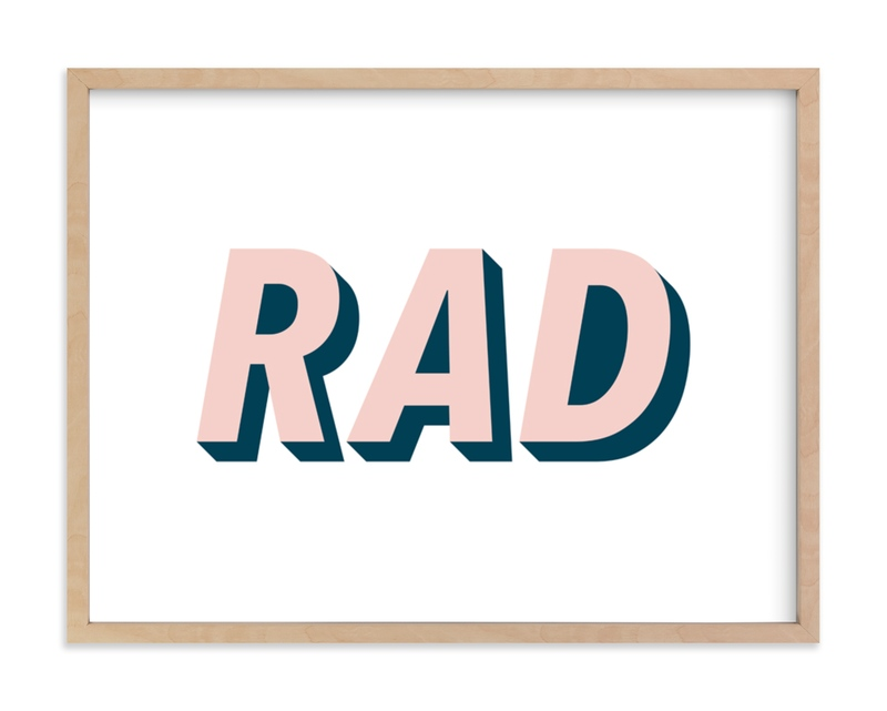 """""""Be Rad"""" - Limited Edition Art Print by Christine Sullivan Houlihan in beautiful frame options and a variety of sizes."""