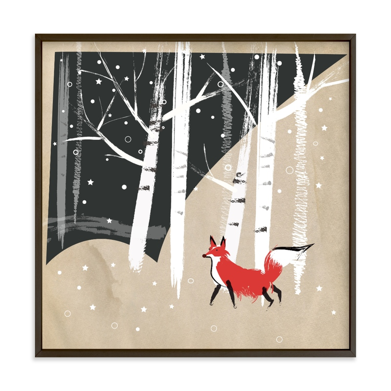 """Foxy Woods"" - Limited Edition Art Print by Annie Bakst in beautiful frame options and a variety of sizes."