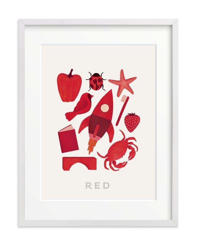 Ten Red Things Children's Art Print