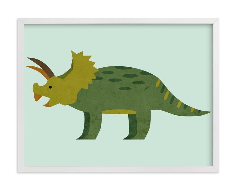 Triceratops Children's Art Print