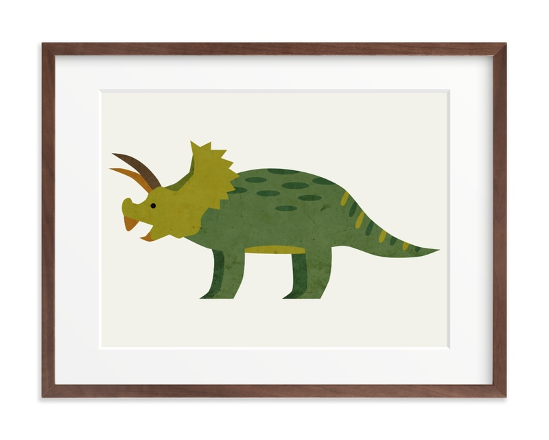 Triceratops Children's Art Print