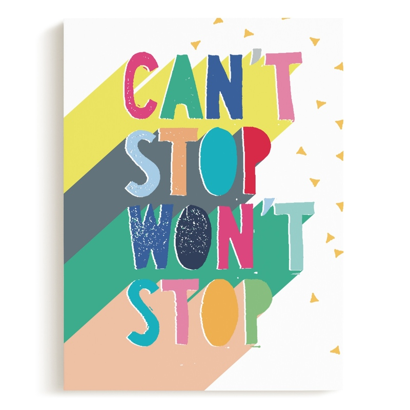 Can't Stop Children's Art Print