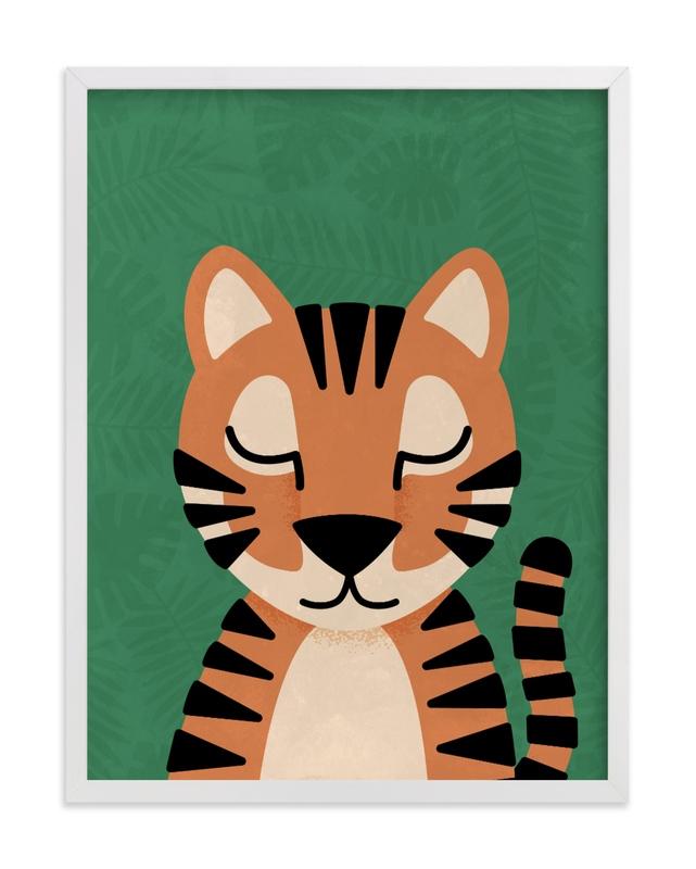 Jungle Tiger Children's Art Print