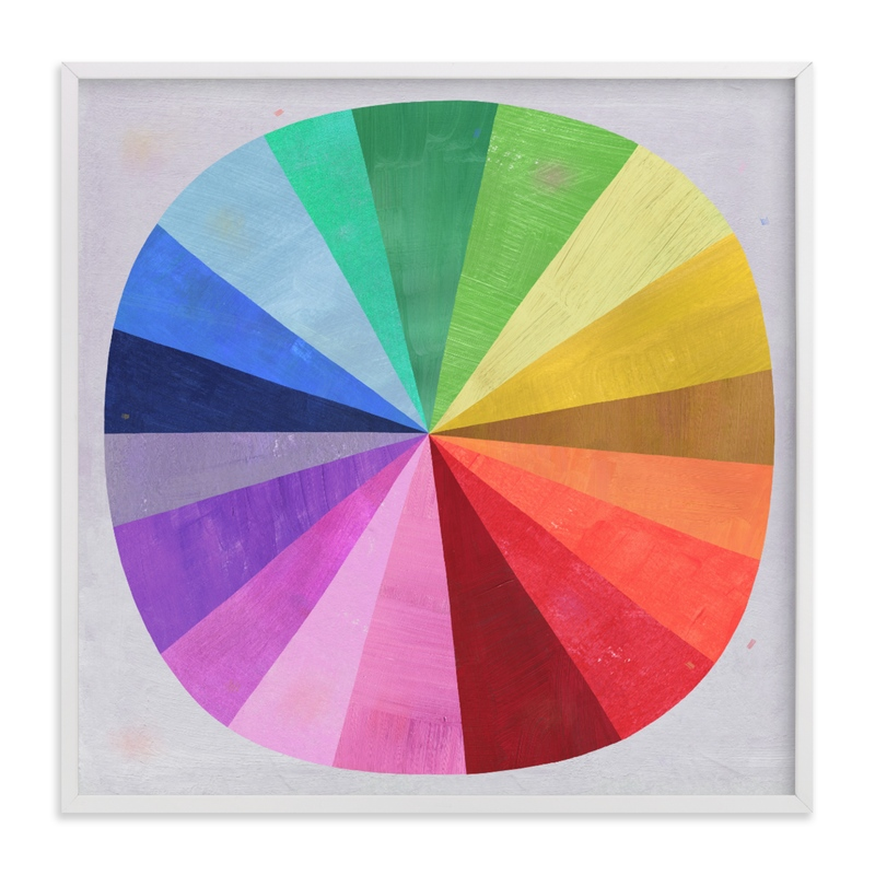"""Color Wheel"" - Limited Edition Art Print by melanie mikecz in beautiful frame options and a variety of sizes."