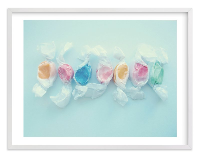 """""""Blue taffy"""" - Limited Edition Art Print by Hannah E Palmer in beautiful frame options and a variety of sizes."""