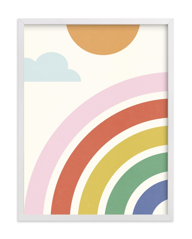 This is a colorful kids wall art by Kristen Smith called Simple Rainbow.