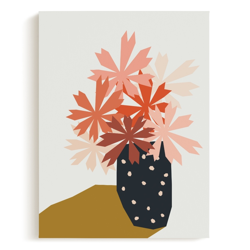 polka dot vase Children's Art Print