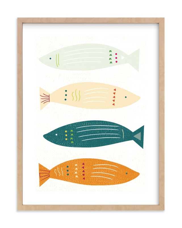 Fish Fiesta Children's Art Print