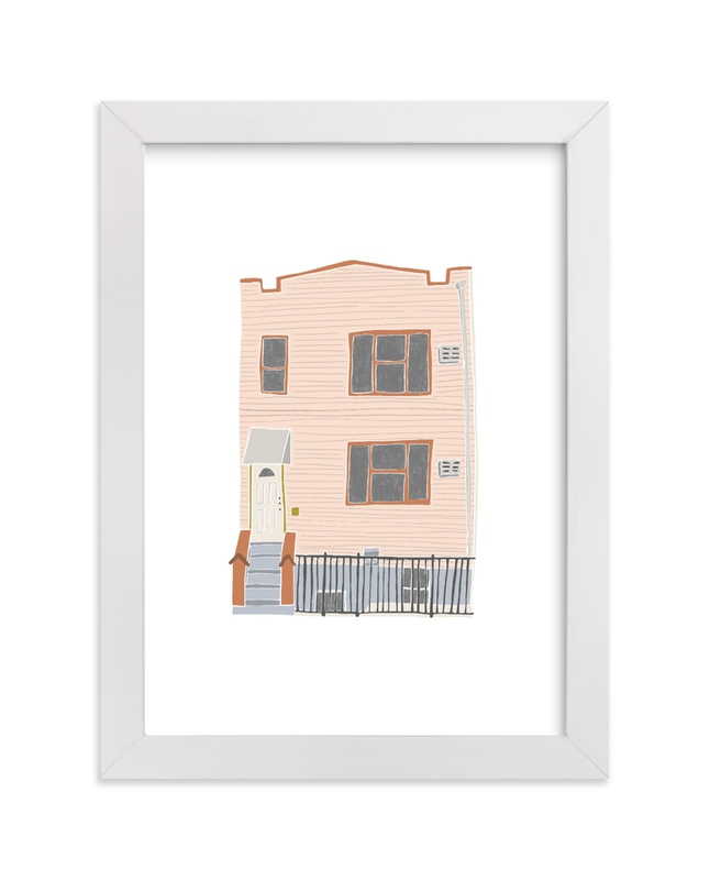 """""""Home in Greenpoint"""" - Limited Edition Art Print by Vine and Thistle in beautiful frame options and a variety of sizes."""