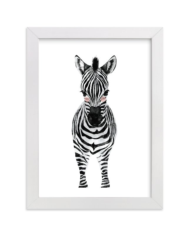 """baby animal.zebra"" - Limited Edition Art Print by Cass Loh in beautiful frame options and a variety of sizes."