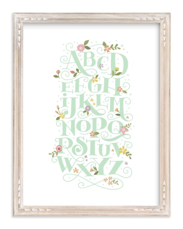 """""""Blooming letters"""" - Limited Edition Art Print by Jennifer Wick in beautiful frame options and a variety of sizes."""