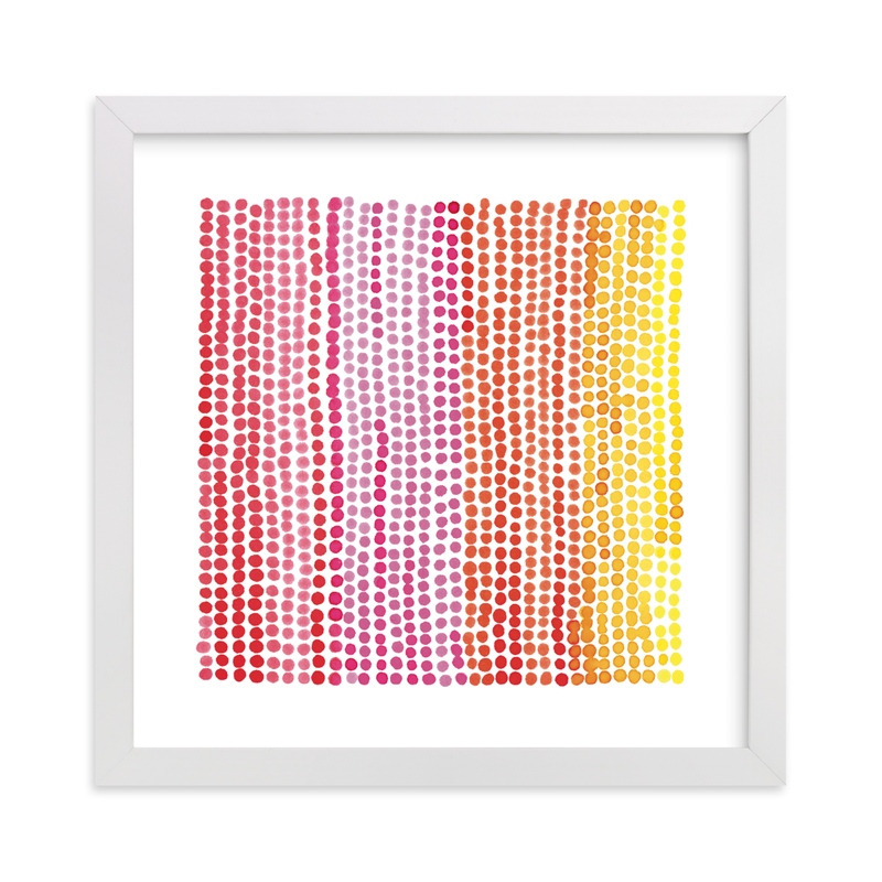 Rainbow Dots 1 Children's Art Print