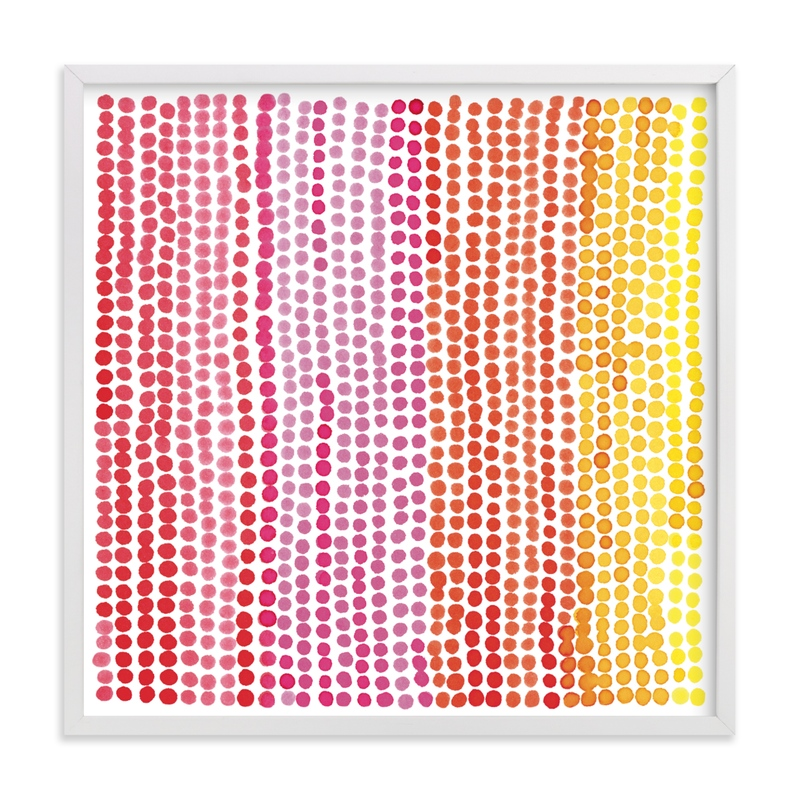 """Rainbow Dots 1"" - Limited Edition Art Print by Paper Dahlia in beautiful frame options and a variety of sizes."