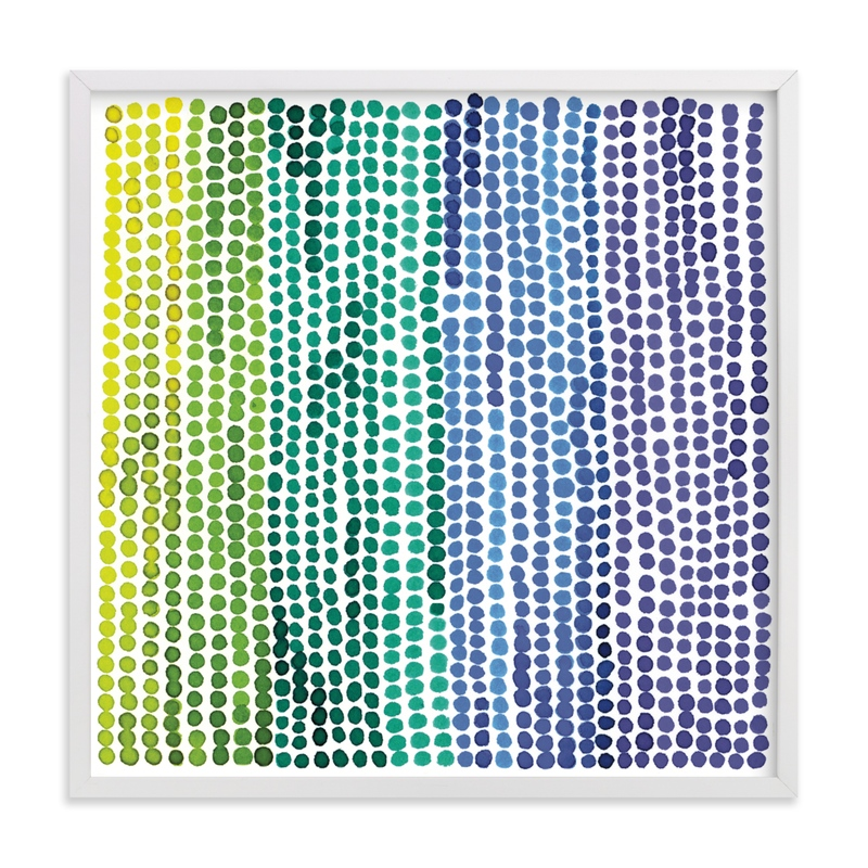 """Rainbow Dots 2"" - Limited Edition Art Print by Paper Dahlia in beautiful frame options and a variety of sizes."