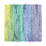 Rainbow Dots 2 Children's Art Print