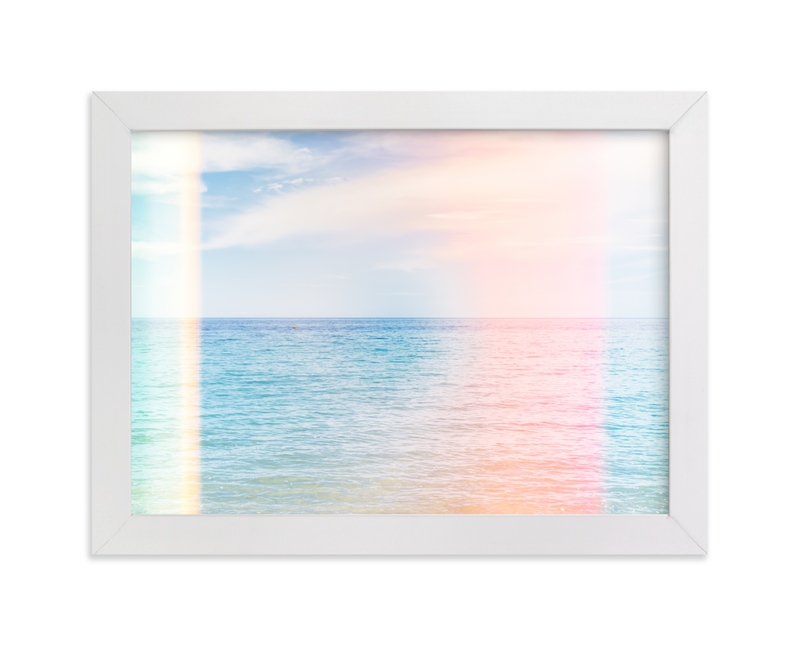 """""""Summer Sea"""" - Limited Edition Art Print by Kamala Nahas in beautiful frame options and a variety of sizes."""