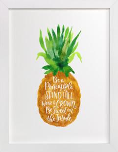 Be A Pineapple Children's Art Print