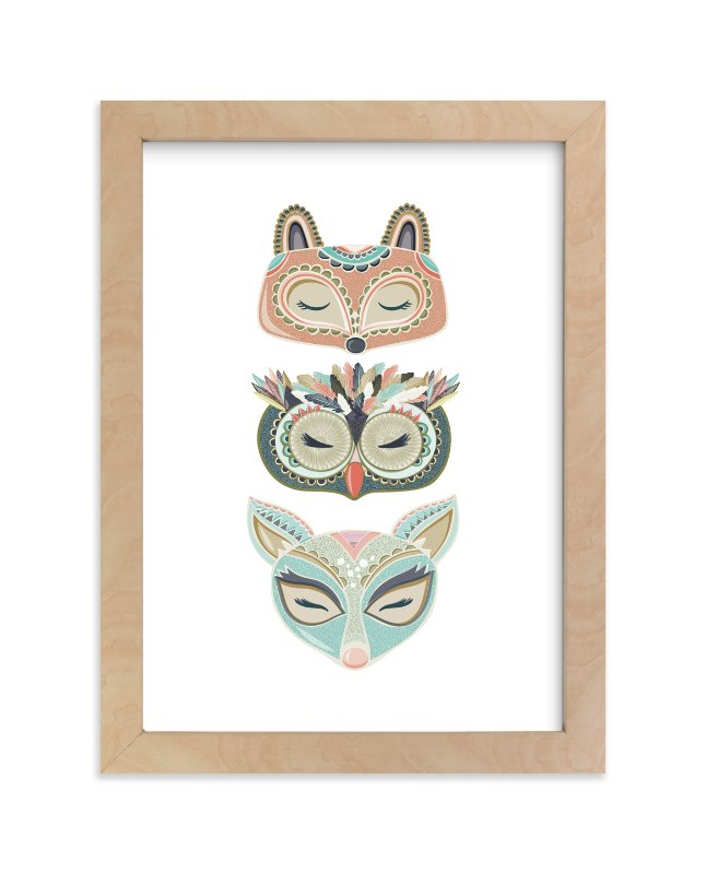 """""""Into the Woods"""" - Limited Edition Art Print by Pattern Pop in beautiful frame options and a variety of sizes."""