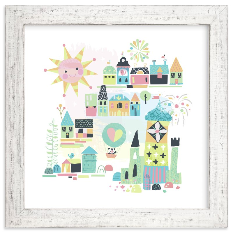 """""""tiny town"""" - Limited Edition Art Print by Jill Howarth in beautiful frame options and a variety of sizes."""