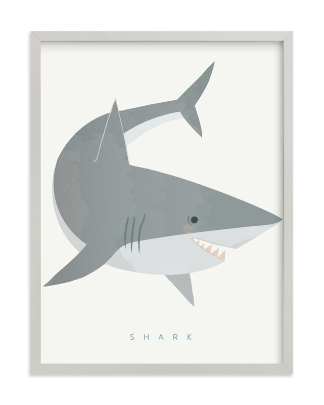Shark Fin Children's Art Print