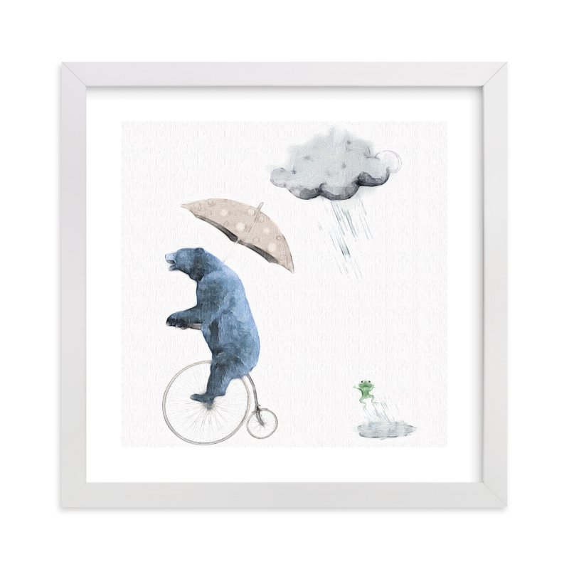 """That's one fast bike, said the Cloud"" - Limited Edition Art Print by Maja Cunningham in beautiful frame options and a variety of sizes."