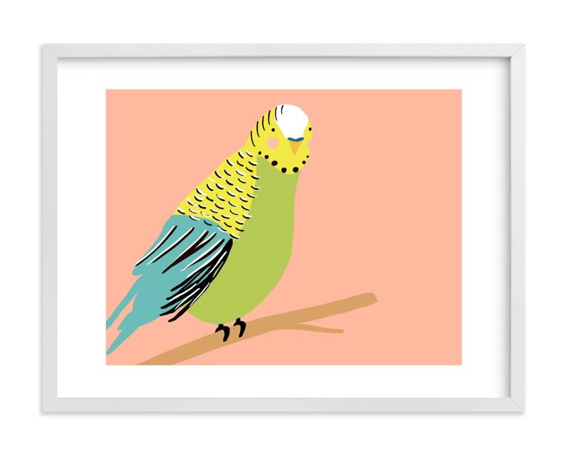 Sweet Parakeet Children's Art Print