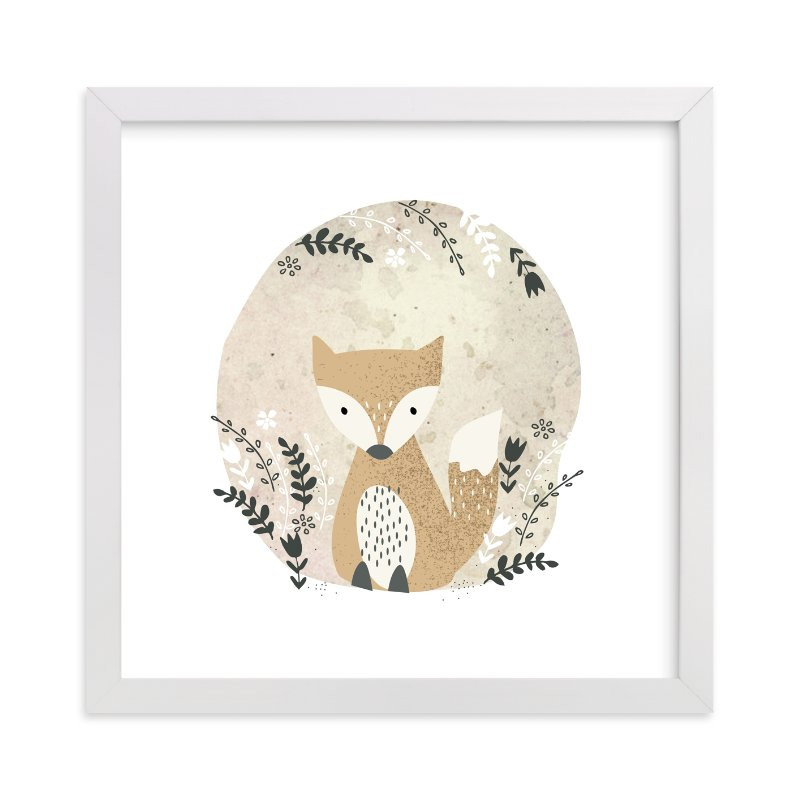 """""""Woodland - Fox"""" - Limited Edition Art Print by Oma N. Ramkhelawan in beautiful frame options and a variety of sizes."""