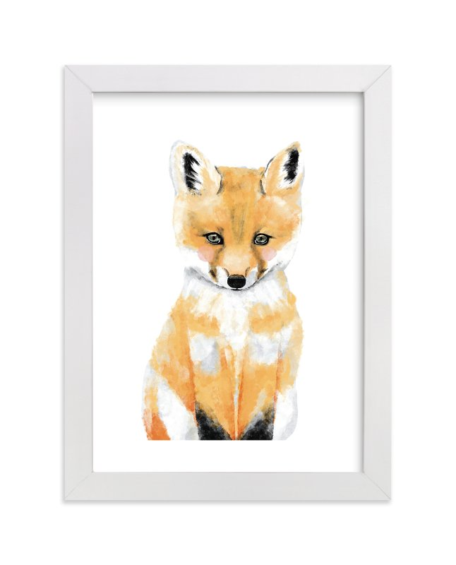 """Baby Animal.Fox"" - Limited Edition Art Print by Cass Loh in beautiful frame options and a variety of sizes."