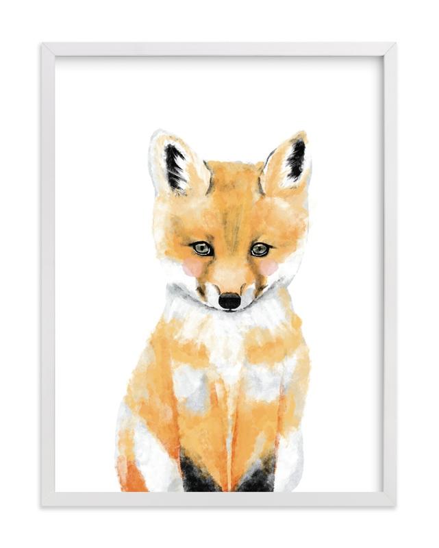 Baby Animal.Fox Children's Art Print