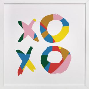 xoxo - be bright Children's Art Print
