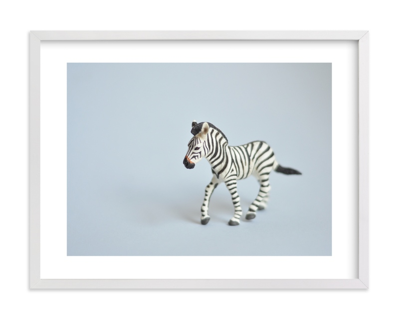 """Oh, Zebra"" - Limited Edition Art Print by Kinga Subject in beautiful frame options and a variety of sizes."