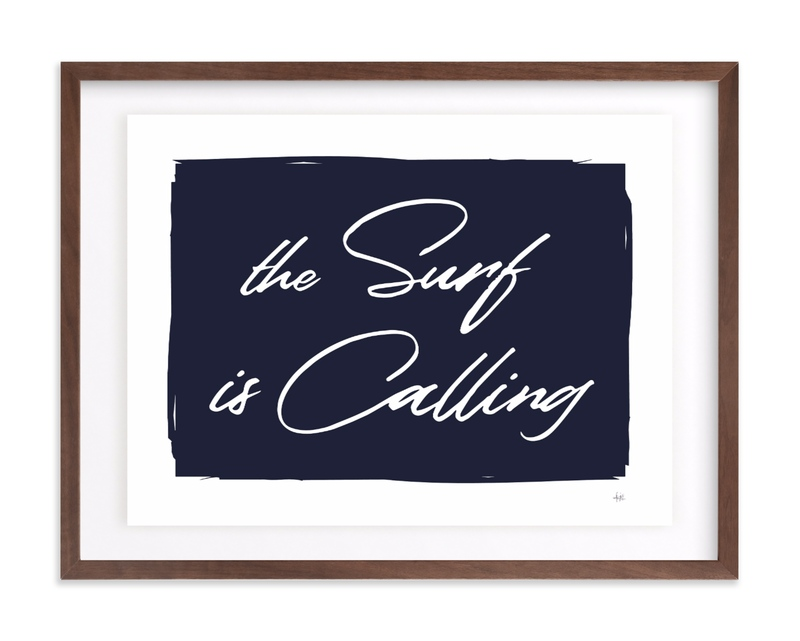 The Surf is Calling Children's Art Print