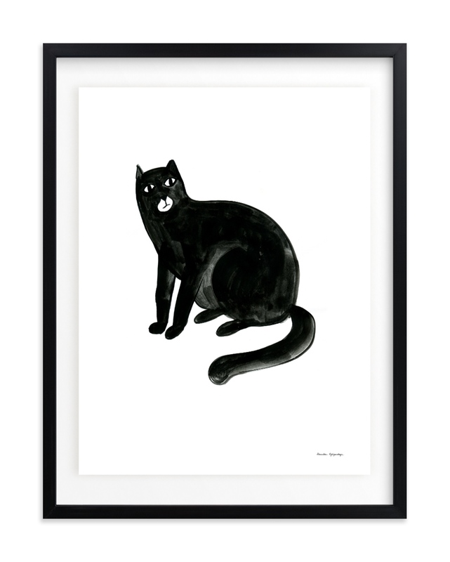 Graphic cat Children's Art Print