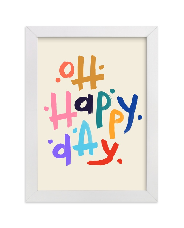 """Oh Happy Day!"" - Limited Edition Art Print by Rachel Roe in beautiful frame options and a variety of sizes."