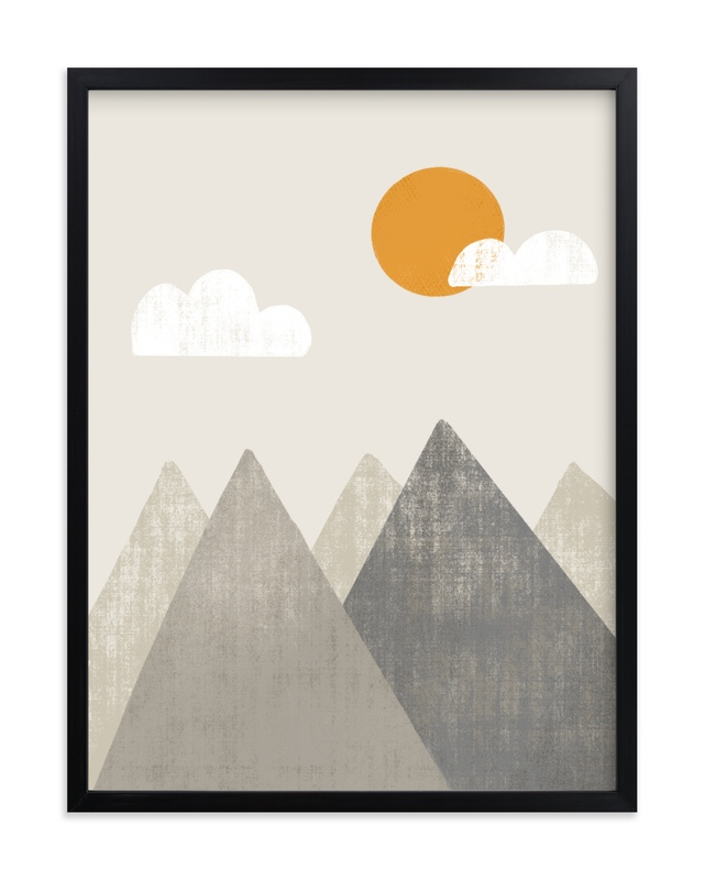 The Mountains are Calling in the Morning Children's Art Print