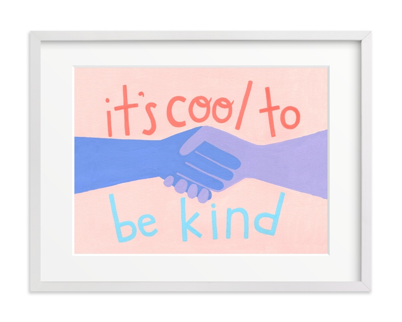 It's Cool to Be Kind Children's Art Print