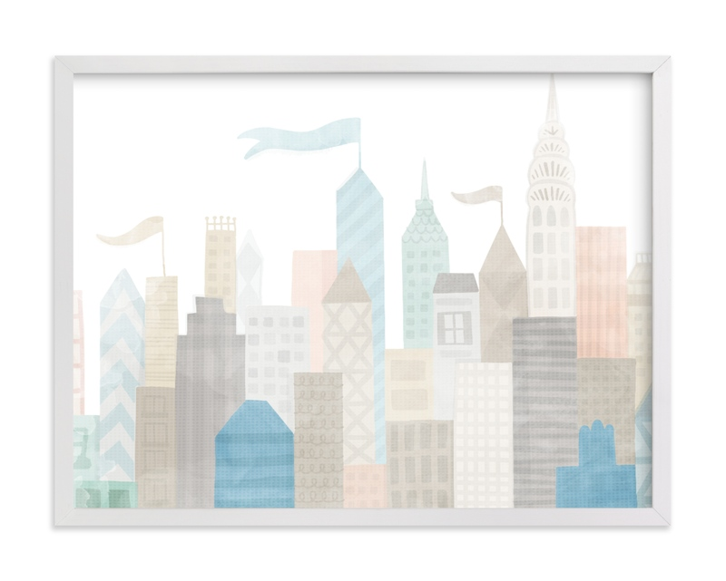"""""""Big City"""" - Limited Edition Art Print by Jessie Steury in beautiful frame options and a variety of sizes."""