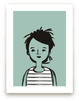 Girl in Stripes by Amy Mullen