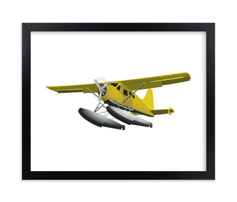 """Seaplane"" - Limited Edition Art Print by Nathan Poland in beautiful frame options and a variety of sizes."