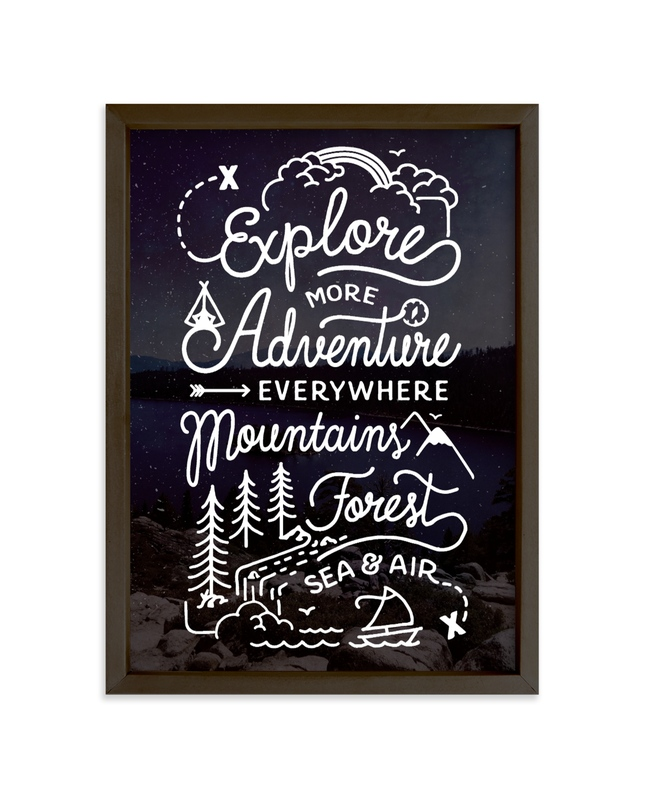 """""""Explore More"""" - Limited Edition Art Print by Dawn Jasper in beautiful frame options and a variety of sizes."""