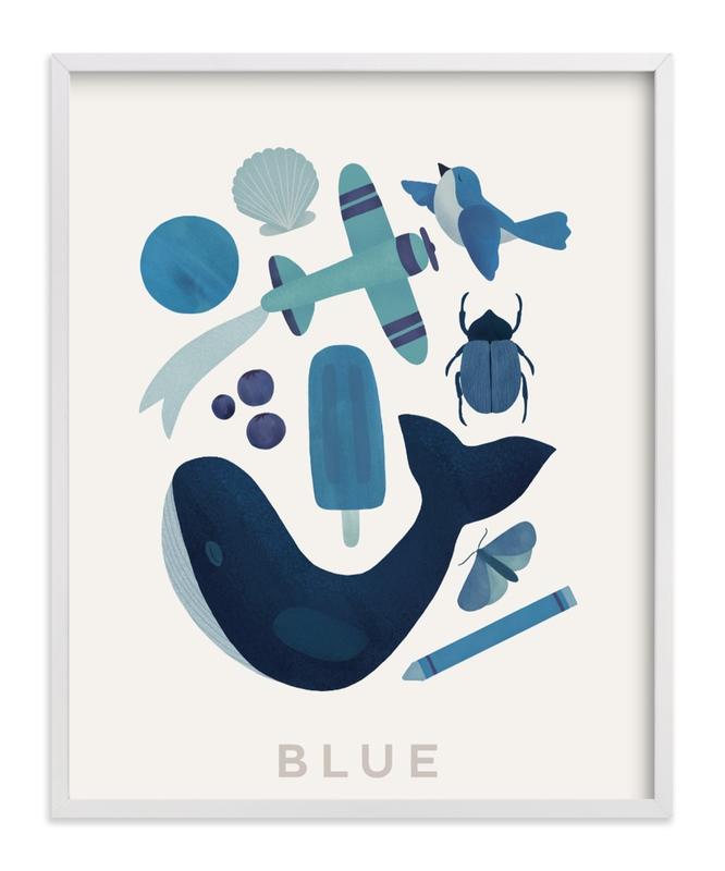 Ten Blue Things Children's Art Print