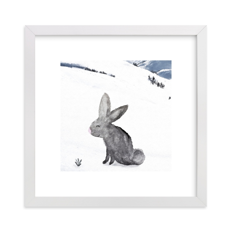"""""""I bet there is a carrot under there"""" - Limited Edition Art Print by Maja Cunningham in beautiful frame options and a variety of sizes."""