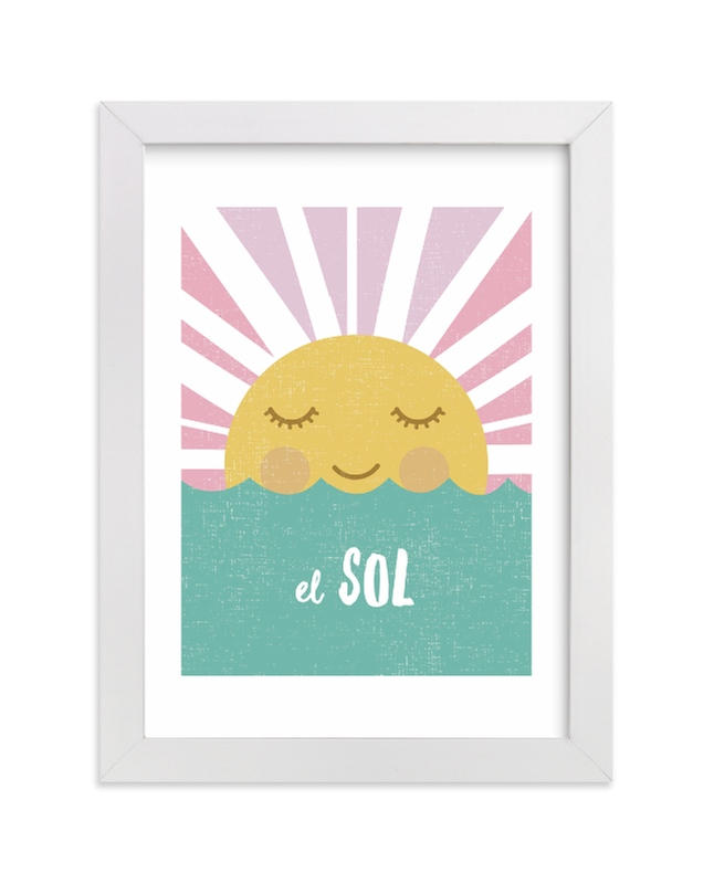 """El Sol"" - Limited Edition Art Print by merry mack creative in beautiful frame options and a variety of sizes."