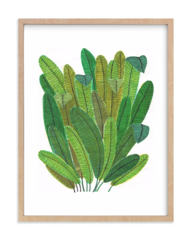 """""""Banana Leaf Bouquet"""" - Limited Edition Art Print by Madeline Trait in beautiful frame options and a variety of sizes."""