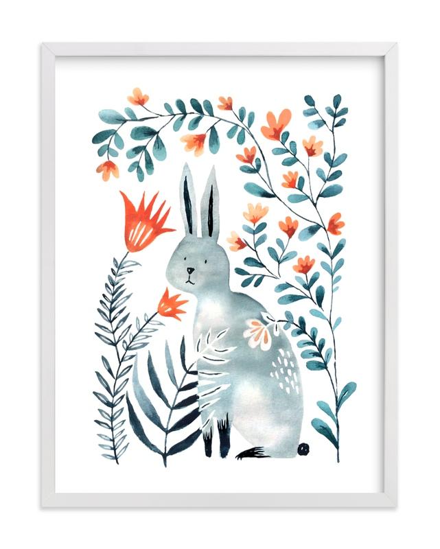 Meadow Bunny Children's Art Print