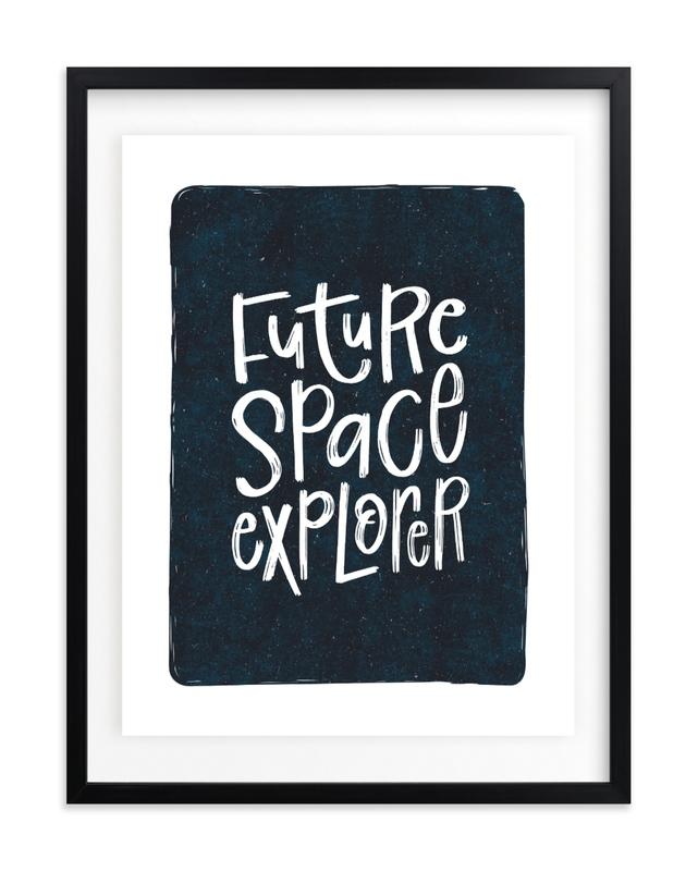 Future Space Explorer Children's Art Print