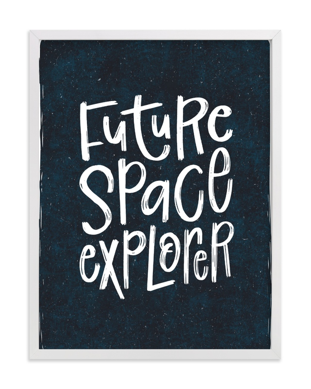 """""""Future Space Explorer"""" - Limited Edition Art Print by Amy Payne in beautiful frame options and a variety of sizes."""